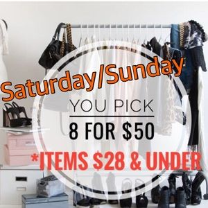 8 for $50 SALE!! Jeans tops tees shoes